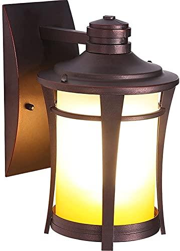 JYHZ Lámpara de Pared,lámpara de Pared Exterior a Prueba de Agua Antigua,lámparas de decoración de Dormitorio de Puerta Interior,lámpara de Pared Retro rústica en la Cocina