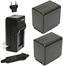 Wasabi Power Battery (2-Pack) and Charger for Panasonic VW-VBT380 and Panasonic HC-V250, HC-V380, HC-V510, HC-V520, HC-V710, HC-V720, HC-V750, HC-V770, HC-VX870, HC-VX981K, HC-WXF991K