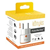 Konyks Priska Max Easy FR, Prise connectée WiFi+BT 16A avec compteur de consommation, compatible Alexa et Google Home, automatisations faciles