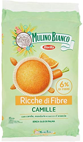 Mulino Bianco Camille Carrot Cake Snack Dessert with Orange & Almonds 304g