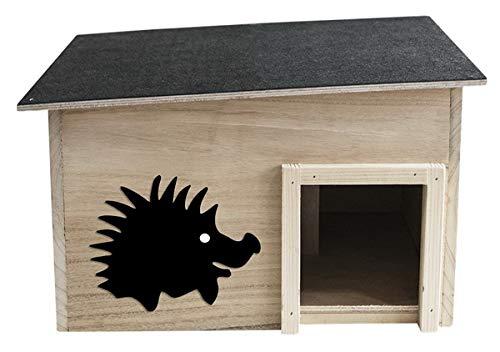 Jürgen Westerholt Igelhaus Igelhotel 40 x 32 x 15 cm Igelhütte Igel Futterstelle Pension Schutz im Winter mit abnehmbarem Dach