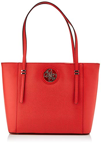 Guess Open Road, Bolso tipo tote para Mujer, Rojo (Poppy), 12x27x40 Centimeters (W x H x L)