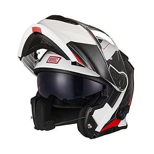 ORIGINE Motorradhelm Bluetooth Klapphelm Integralhelm ECE 22-05 Mit Doppelvisier
