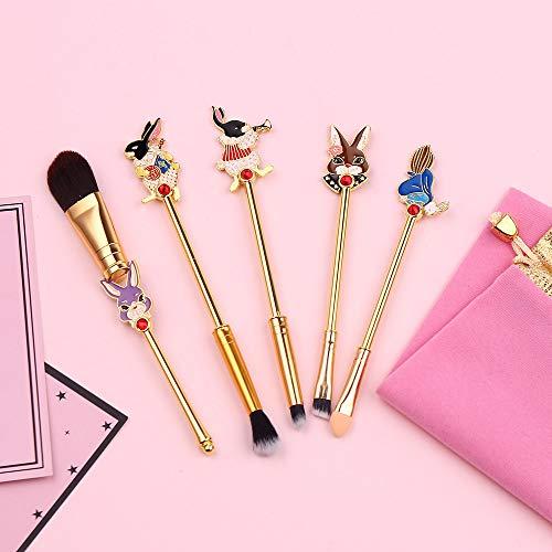 Bosi General Merchandise MakeupPinselSet, Alice im Wunderland, flüssige Grundierung, gepresstes...