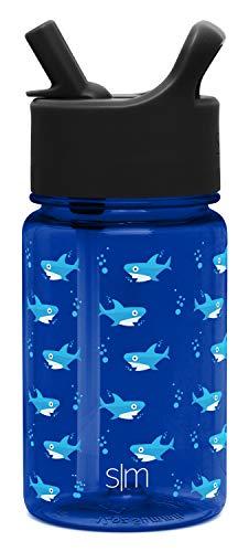 Simple Modern 12oz Summit Kids Tritan Water Bottle with Straw Lid for Toddler - Dishwasher Safe Travel Tumbler - Shark Bite