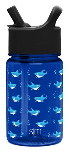 Simple Modern 12oz Summit Kids Tritan Water Bottle with Straw Lid for Toddler - Dishwasher Safe Travel Tumbler - Shark Bite