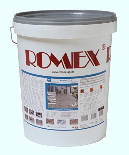 Rompox D1, Pflasterfugenmörtel 2-K, 25 kg Eimer, Farbe Steingrau