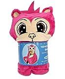 Children's Monkey Velvet Hooded Blanket Animal Critter Wearable Blanket Size 40' x 47.5'