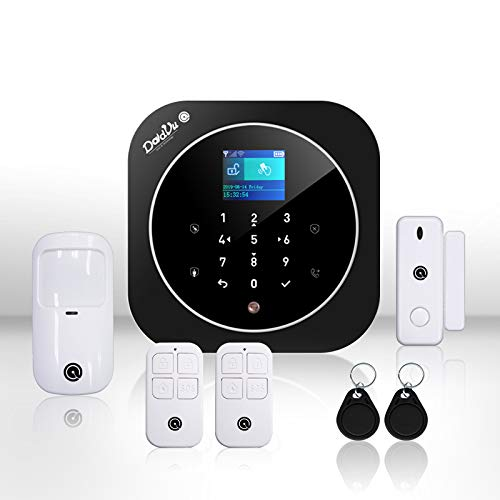 Sistema di Allarme casa Kit wireless senza fili, WIFI, GSM, Kit Dadvu DV-2AT, Combinatore Telefonico, 100 zone, App Smart Life (Tuya), Compatibile Google Home ed Alexa
