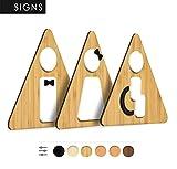 Signs inodoro [B4], 3 x Rest Room WC - Hombre, Mujer, minusválidos - Individual gestaltbare señales y pictogramas para puertas, salas, restaurantes, Tiendas y Oficinas, placa de madera en relieve