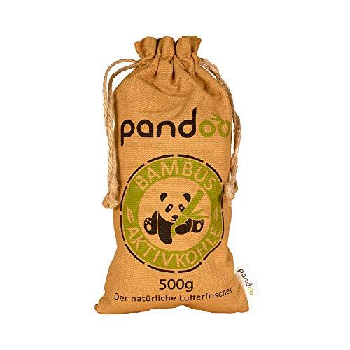 pandoo Bambus Lufterfrischer 500g natürlich mit Aktivkohle – Luftreiniger, Luftentfeuchter Raumerfrischer & Geruchsentferner für Wohnung und Auto
