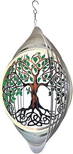 Spinart Baum des Lebens Wind Spinner kinetisches Ornament Dekor für den Garten und Haus Dekoration aus Edelstahl und langlebige beschichtete Farbe