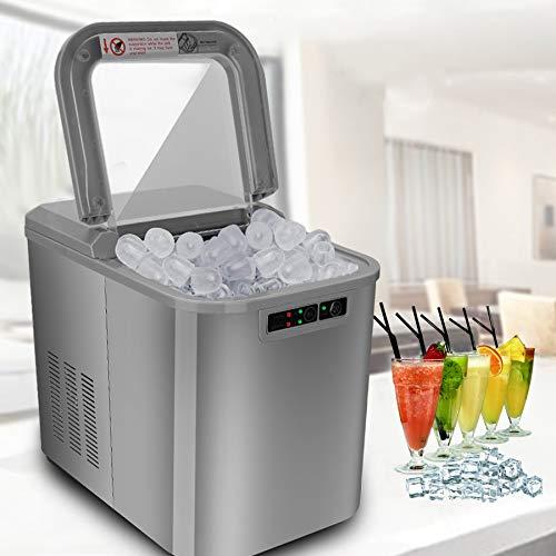 VINGO Eiswürfelmaschine, Eismaschine mit Kompressor, 12 kg 24 h, 6 Minuten Produktionszeit, 2 Würfelgrößen, 2.2 L, Selbstreinigungsfunktion, 120W Eiswürfelbereiter
