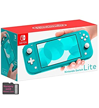Newest Nintendo Switch Lite Game Console Bundle with 64GB Mazepoly Micro SD Card 5.5  Touchscreen Display Built-in Plus Control Pad Turquoise