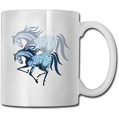 Gespikkeld paard en fantoom koffie mokken keramische thee beker, het perfecte cadeau voor familie en vrienden, leuke witte koffie Cup