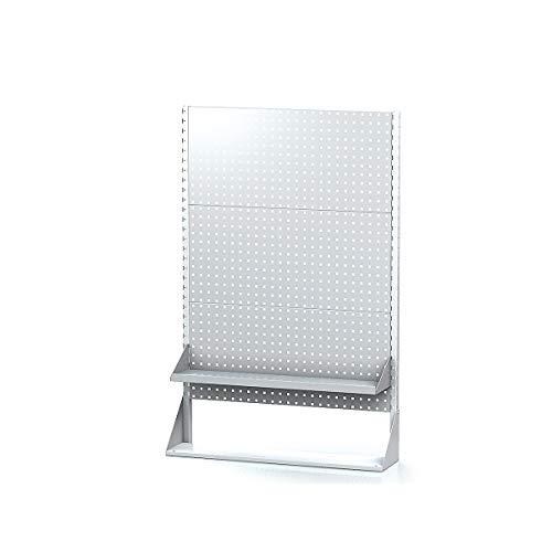 Certeo Systemständer | Basisfeld | HxBxT 1558 x 1015 x 250 mm | Lochwand Werkzeuglochwand Werkzeugwand Lochblech