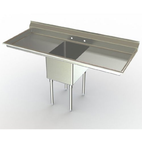 Great Price! Aero NSF Deluxe Sink, 1-Bowl, With 30 inch Left Hand/Right Hand Drainboards, 30 inch D ...