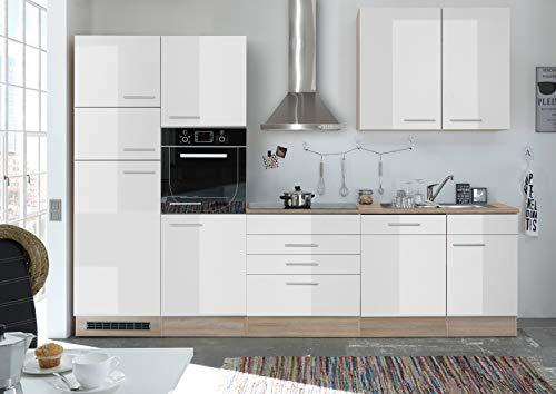 moebel-guenstig24.de Küche and Küchenblock Küchenzeile Komplettküche 270cm Singleküche Miniküche weiß