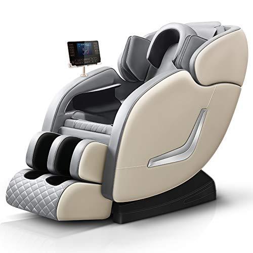 Jare S1 Massage Chair For Home And Office Portable Recliner Shiatsu Zero Gravity Full Body (White)