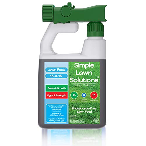 Superior Nitrogen & Potash 15-0-15 NPK- Lawn Food Quality Liquid Fertilizer - Concentrated Spray-...