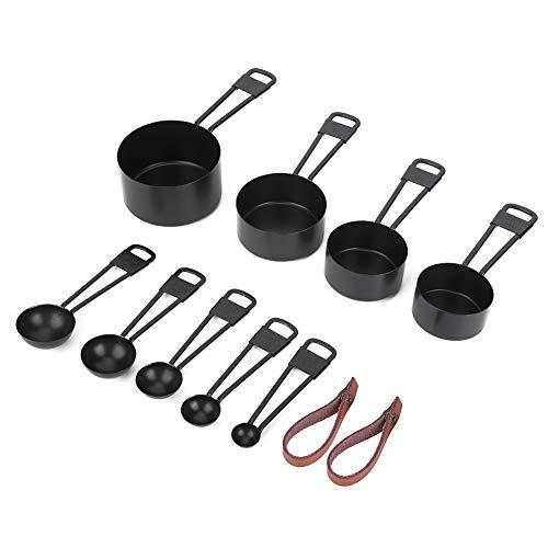 Colher de cozinha, conjunto de copos medidores, 9 peças de aço inoxidável resistente à corrosão para casa