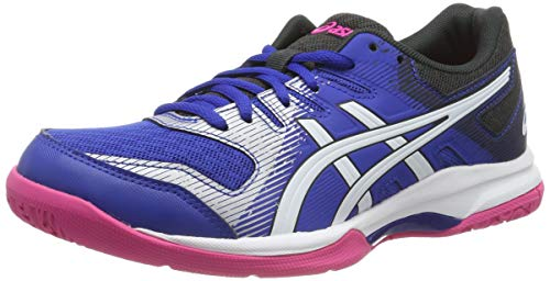 Asics Damen Gel-Rocket 9 Indoor Court Shoe, Blue/White, 39 EU