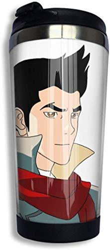 Qurbet Legend of Ko-rra Mako Kaffeetassen Edelstahl Wasserflasche Becher Reisebecher Kaffeebecher mit auslaufsicherem Deckel