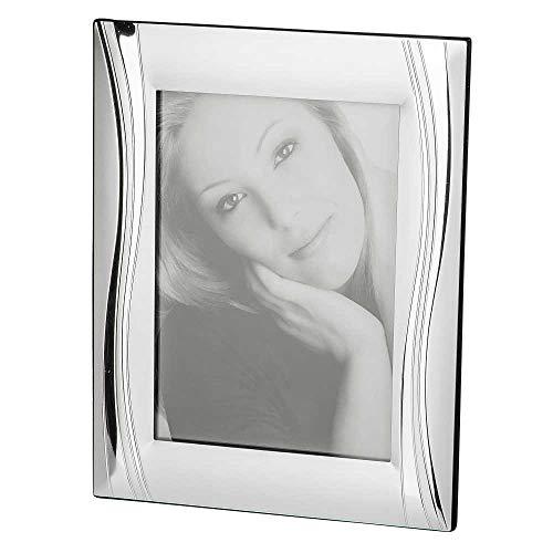 Bilderrahmen, Fotorahmen WELLE für 13x18cm Fotos silber 24x18,5cm Formano