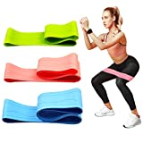 Resistance Bands Set Exercise Bandss, Versatile Exercise Workout Bands , Yoga, Strength Training, Physical Therapy, PilatesHip Fitness Bands for Legs and Butt, Elastic Strength Squat Band - 3 Pack