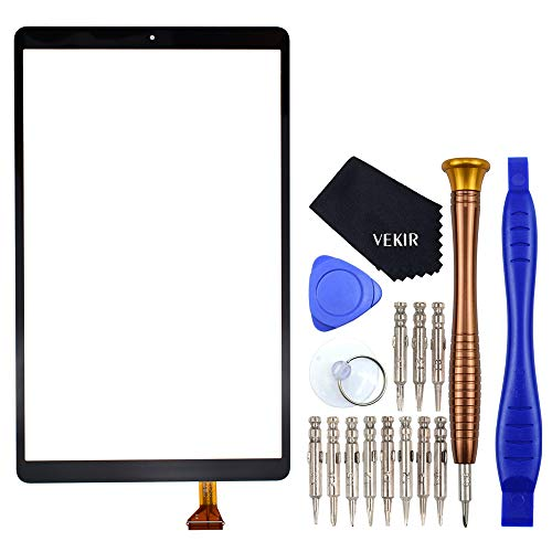 VEKIR SM-T510 (NO LCD) Touch Digitizer Screen Glass Repair replacement for Samsung Galaxy Tab A 10.1 2019 Black