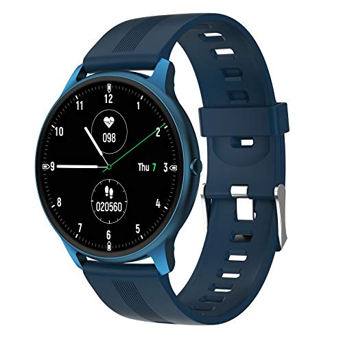 Ultra Thin Smart Watch Full Touch Screen Fitness Tracker Heart Rate Blood Pressure Oxygen Monitor Bluetooth Smartwatches for Android iOS