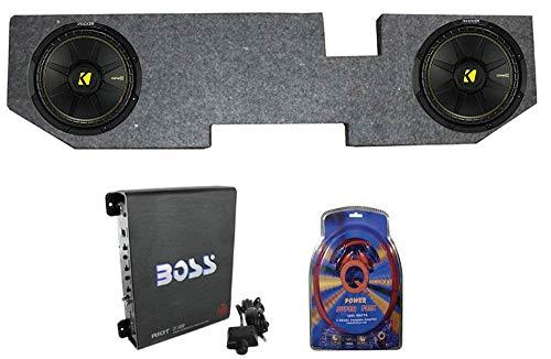 "KICKER 2 12"" 600W Subwoofers + Dodge Ram Quad Cab '02-New 12"" Box + Amp + Wiring"