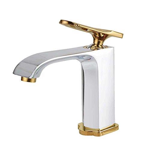 Badarmatur Einhebelmischer Mischbatterie Waschtischarmatur Chrom Gold Sanlingo Serie PALA