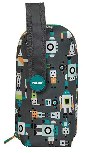 Milan 08872HBGR - Kit 4 estuches con contenido Happy Bots, Gris