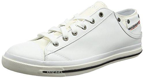 Diesel Herren Exposure Low I Sneaker, Weiß (White), 42.5 EU