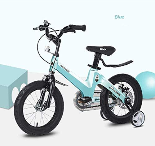HFFFHA De la muchacha del estilo libre del muchacho de los niños Los niños del niño for bicicleta 12/14/16 pulgadas bicicleta de niño regalo for los niños Kid Ciclismo de bicicletas, verde, de 16 pulg