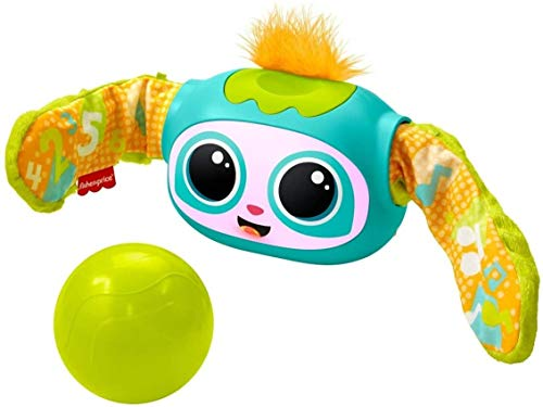 Fisher-Price Rollin Rovee, interactive activity toy with music, lights, and learning content for kids ages 6 months to 5 years