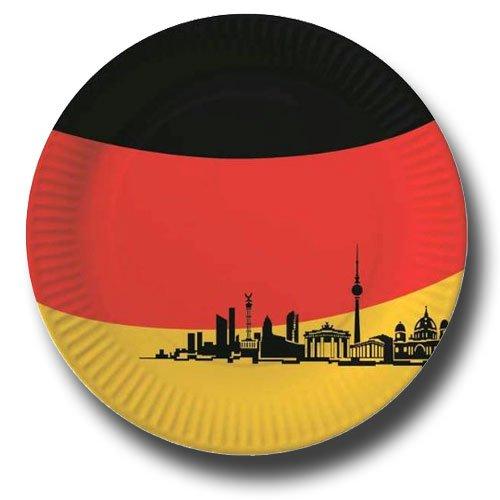 10 Pappteller Deutschland Berlin