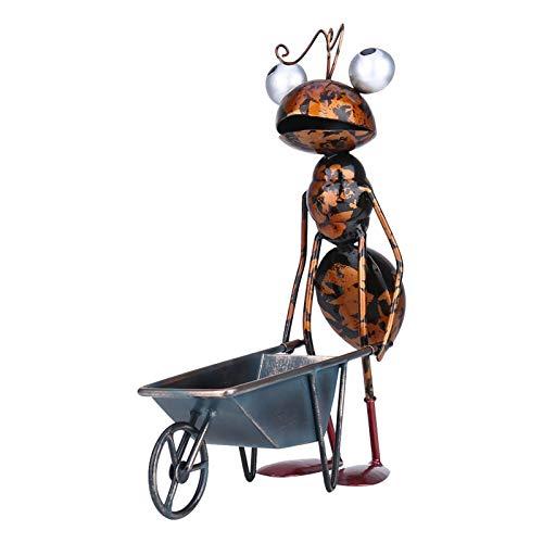 hooks Metallameisen Ornament, Metall Garten Skulptur, Haustiere Tierskulpturen Rasen Statuen Bunte Wohnkultur Garten Ornamente (30 cm)