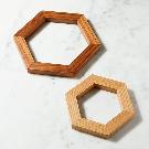 Hexagon Wood Trivets, Set of 2 | Crate and Barrel