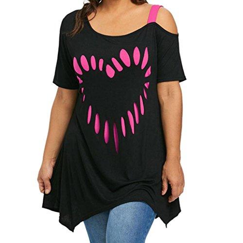 FAMILIZO Camisetas Mujer Verano Blusa Mujer Elegante Camisetas Mujer Manga Corta Algodón Camiseta Mujer Camisetas Mujer Fiesta Camisetas Sin Hombros Mujer Camisetas Mujer Tallas Grandes (4XL, Hot)