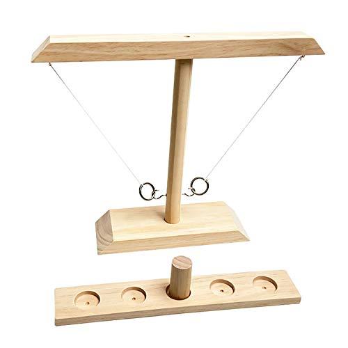 LGLE Ring Toss Game - Hook and Ring Toss Battle Game para Niños Y Adultos Juego Interactivo Juego De Mesa Ring Toss para Home Bar Part,A,S