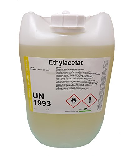 DruckChemie Ethylacetat 10 Liter Kanister - flüchtiges Reinigungs- und Extraktionsmittel