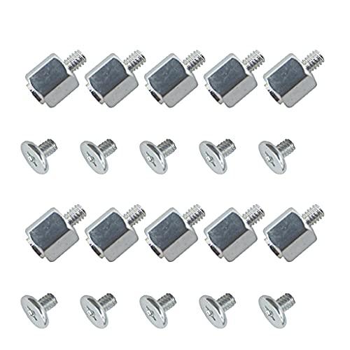 kdjsic Juego de 10 Kits de Montaje de Herramientas manuales, Tuerca Hexagonal de Tornillo de Soporte para Placa Base SSD A-Sus M.2