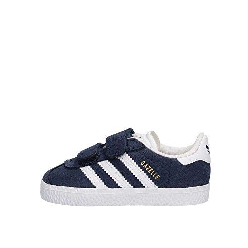 Adidas Gazelle CF I, Zapatillas Unisex niños, Azul (Collegiate Navy/Footwear White/Footwear White 0), 23 EU