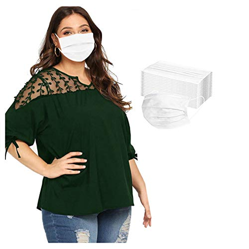 LiLiMeng Extra Large Adult 3 Layer Disposable Face Msaks - Pack of 25/50/50 - Adult Large Size Oversize Face Msaks - Loose Face Msaks for Obese people (25, White)