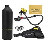 Equipo de snorkel, kit de tanque Fácil identificación Ampliamente aplicable para buceo(Botella de oxigeno negra)
