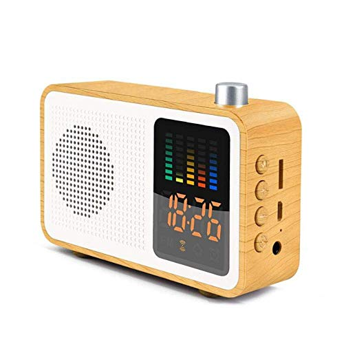 YXFYXF Digitaler Wecker für den Nachttisch, Farb-LED-Bildschirm, elektronischer Wecker, Retro-Bluetooth-Audio-Uhr, Mini-Radio, Heim-Desktop-Digitalwecker