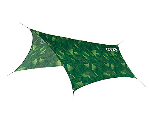 ENO, Eagles Nest Outfitters ProFly Ultralight Hammock Rain Fly Tarp, Green Tribal