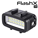 FLASHX Diving Light High Power Dimmable Waterproof 700 Lumen LED Video Light Fill Night Light Diving Underwater Light Waterproof 147ft(40m) for Gopro Hero 8/7/6/5/5S/4/4S/3+/2/SJCAM/YI Action Cameras